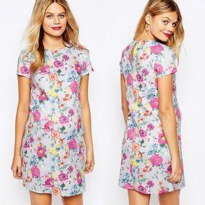 ASOS Maternity Scuba Floral T-Shirt Dress